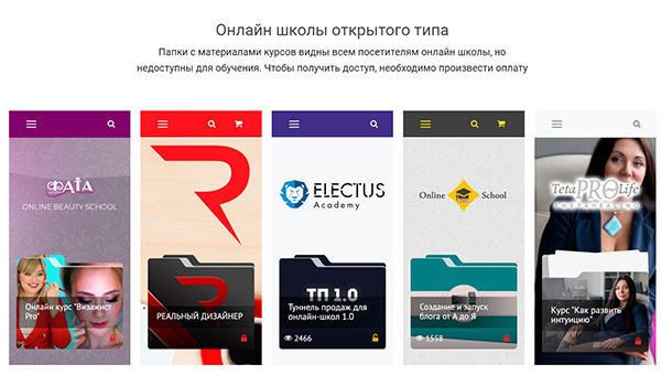 Пример топ 5 лучших онлайн школ на базе Memberlux
